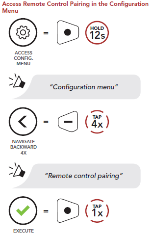 Pairing with Remote Control – Sena Technologies Help Desk