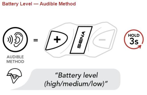 Checking the Bluetooth Module's Battery Level – Sena